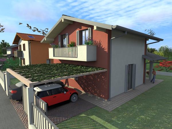 Ville a due piani best studio gardini codice with for Piani casa economica da costruire