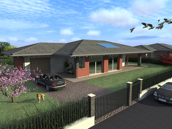 Villa alba for Piani del cortile con piscine
